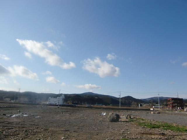 2013年12月3日現在 南三陸町防災センター付近