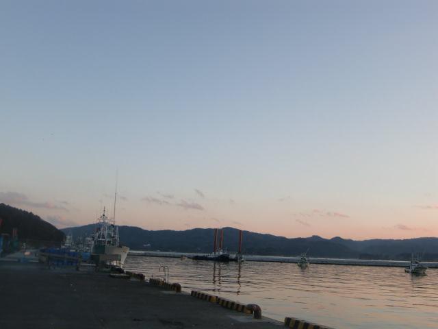 2013年12月3日現在 南三陸町志津川漁港